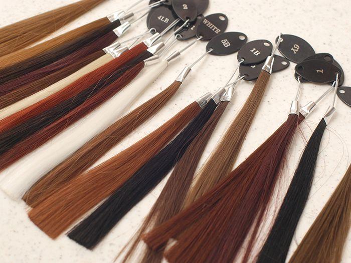 髪のカラーサンプル